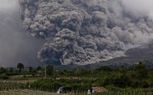 1. Pyroclastic flow from the eruption earlier this year.